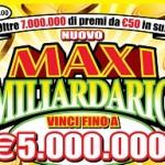 """Gratta e Vinci: a Benevento vinti 5 milioni di euro con un tagliando della serie """"Maxi Miliardario"""""""