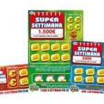 Gratta e Vinci lancia i SuperSettimana. In palio rendite settimanali da 200 a 1.500 euro per 20 anni. Da inizio anno con i GeV già vinti 5,5 miliardi di euro