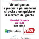 """Eventi, all'Enada di Rimini convegno """"Virtual games, la proposta più moderna si avvia a conquistare il mercato dei giochi"""""""