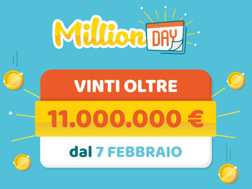 Estrazione million day di oggi luned 19 marzo 2018 for Million day estrazione di oggi
